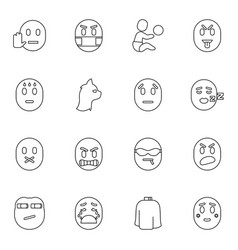 16 character icons vector