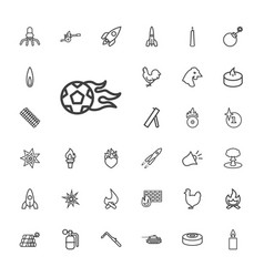 33 fire icons vector