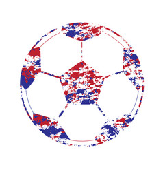 a colorful football world cup isolated set vector image