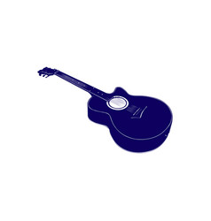 acoustic guitar vintage style vector image