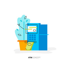 atm minimal concept vector image