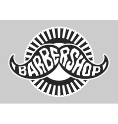 Barbershop logo Black and white vector image