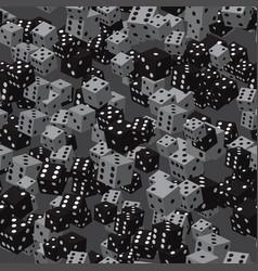black grey dice seamless pattern vector image