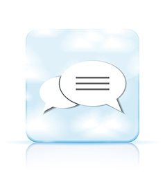 bubble speech app icon on white background Eps 10 vector image