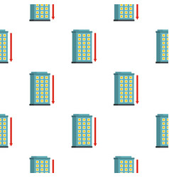 Building and red down arrow pattern seamless vector