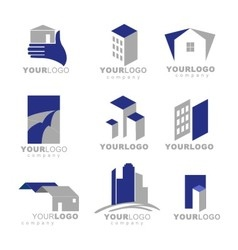 building apartment logos vector image