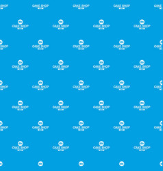 cake shop pattern seamless blue vector image