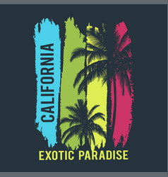 california exotic paradis t-shirt design vector image