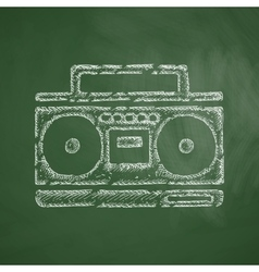 Cassette recorder icon vector