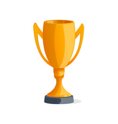 champions golden cup isolated icon vector image