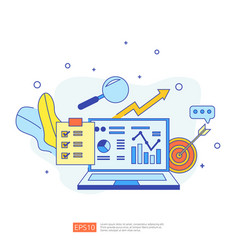 Chart document data report concept for business vector