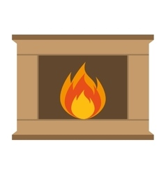 Chimney flame isolated icon vector