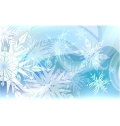 Christmas background light snowflakes vector