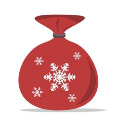 Christmas sack of santa vector