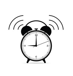 Clock ticking in black color vector