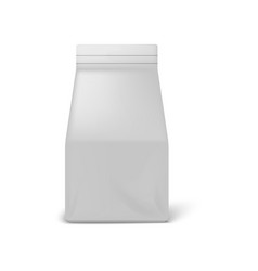 coffee package white paper bag mockup isolated vector image