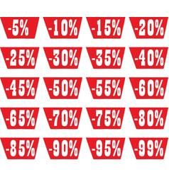 discount label set for design vector image