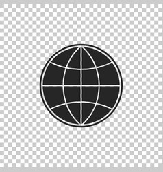 earth globe icon isolated on transparent vector image