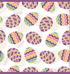 easter egg seamless pattern spring holiday vector image