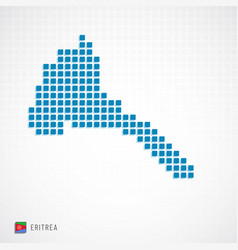 eritrea map and flag icon vector image