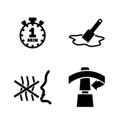 fix glue simple related icons vector image