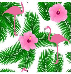 flamingo exotic seamless pattern vector image