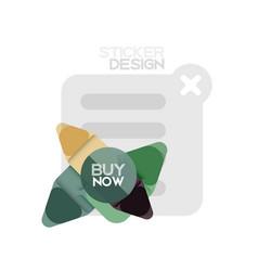 flat design triangle arrow shape geometric sticker vector image