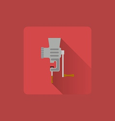 Flat icon manual meat grinder utensils vector image