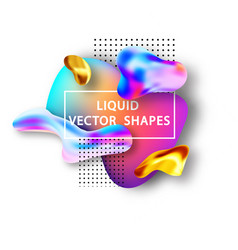 fluid shape layout isolated template set template vector image
