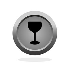 glass of wine icon vector image