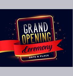 Grand opening ceremoney invitation attractive vector