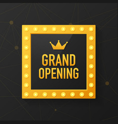 Grand opening sparkling banner template design vector