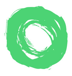 green brushstroke circle form vector image