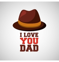 greeting fathers day hat lettering vector image