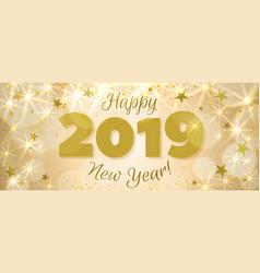 Happy new year 2019 banner vector