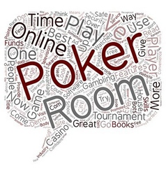 How to Find The Best of Online Poker Rooms text vector image