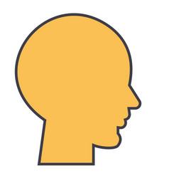 human head male profile concept line icon vector image