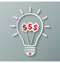 idea dollar bulb vector image