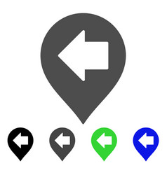 Left arrow marker flat icon vector