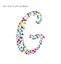 Letter G from Bright Color Ink Blots with vector