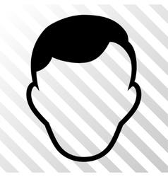 Man Face Template Icon vector