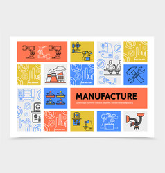 manufacturing infographic concept vector image vector image
