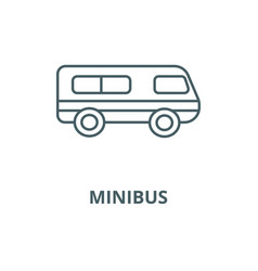 Microbusminibus line icon linear concept vector