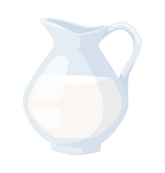 Milk jug vector image
