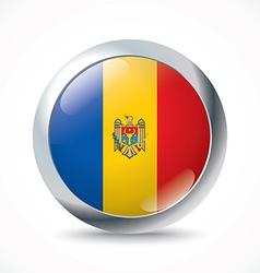 Moldova flag button vector