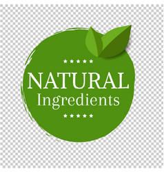 natural label isolated transparent background vector image