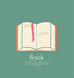 open book with a bookmark vector image