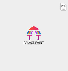 Palace brush paint logo template icon elements vector