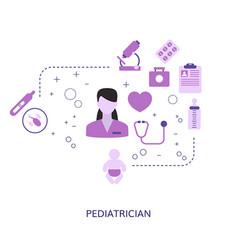 Pediatrics concept pediatrics vector