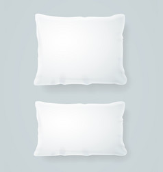 realistic detailed 3d white pillows set vector image